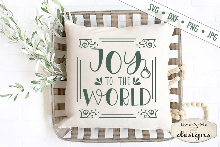 Joy To The World - Christmas - SVG DXF Files example image 1