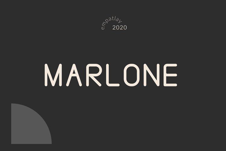 MARLONE | Round Sans Serif Font