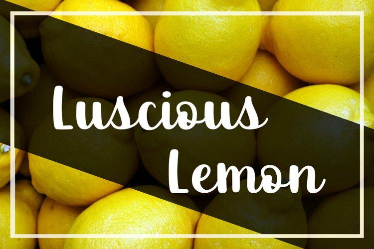 Luscious Lemon - A thick script font example image 1