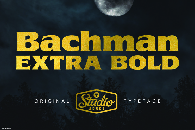 Bachman | Dark Display Type! example image 1
