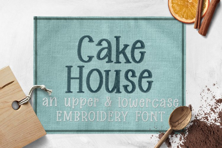 Cake House - Embroidery Font example image 1