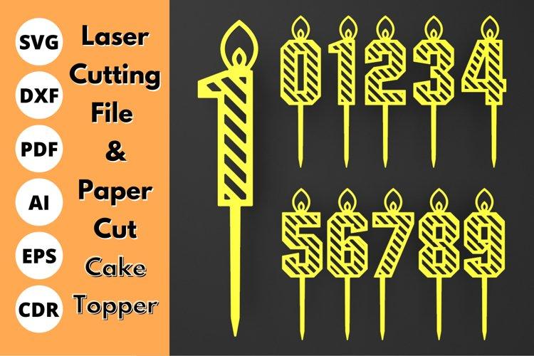 Number Cake Topper - SVG - laser cutting file