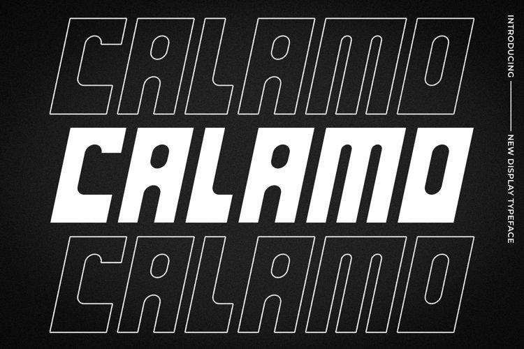 Web Font Calamo example image 1
