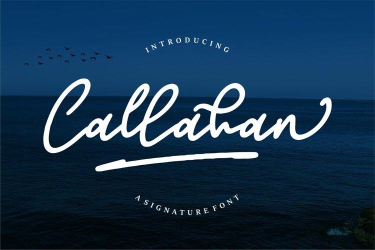 Callahan - A Signature Font example image 1