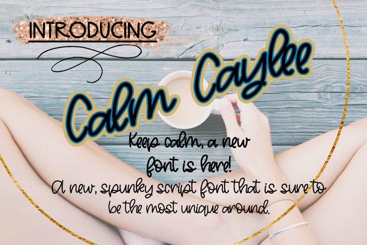 Calm Caylee Script Font