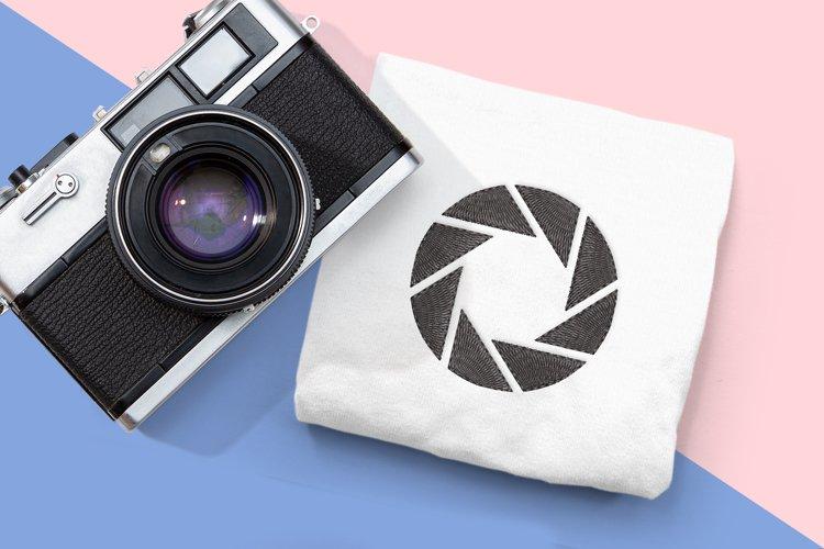 Camera Aperture Mini Embroidery Design
