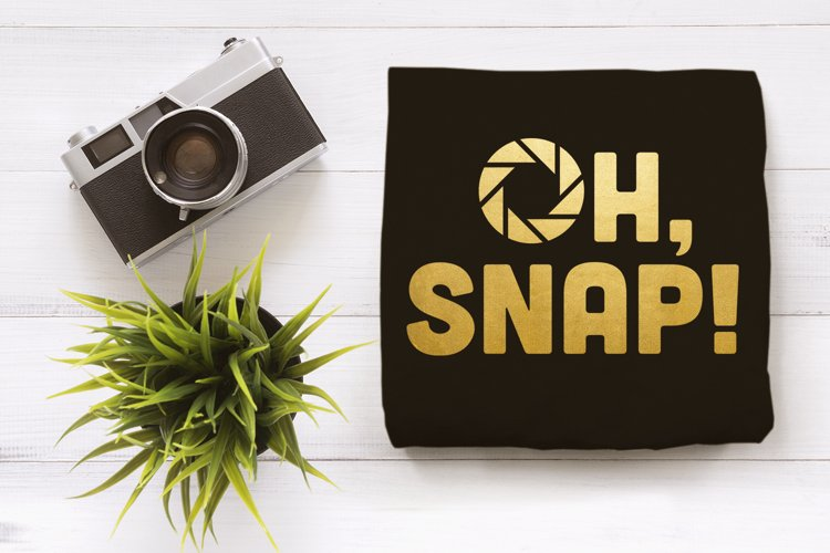 Oh Snap Camera Aperture SVG File