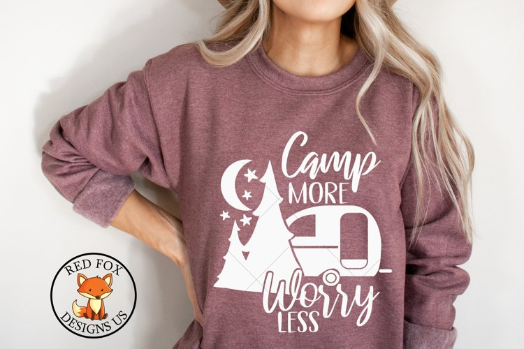 Camp More Worry Less svg   Camping SVG   DXF PNG example image 1