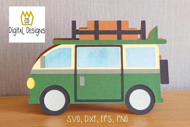 Campervan Card - SVG