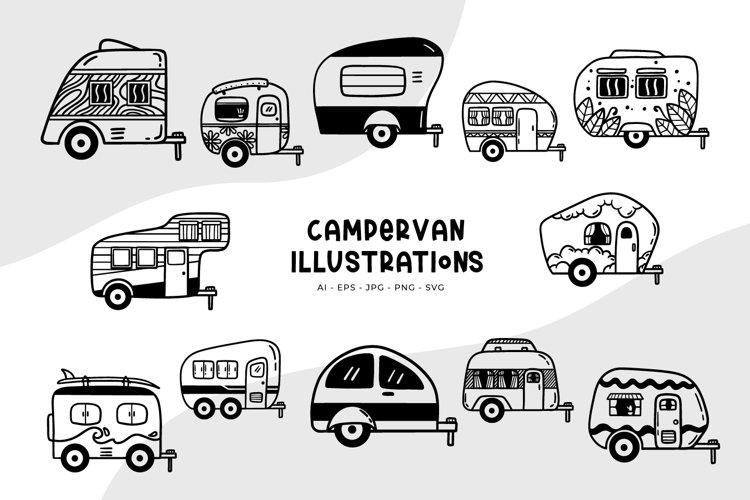 Campervan Illustrations