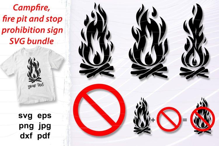Camping svg bundle, fire pit svg Campfire, stop sign.