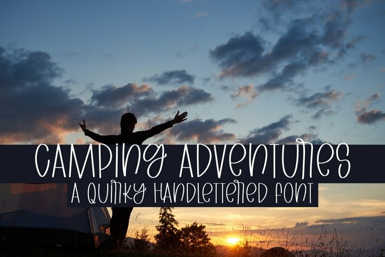 Web Font Camping Adventures - A Quirky Handlettered Font example image 1