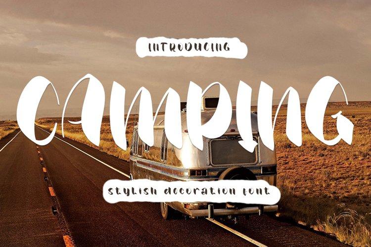 Camping - Stylish Decoration Font example image 1