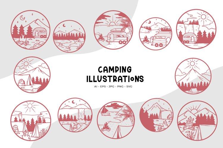 Camping Illustrations