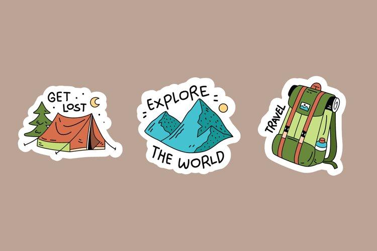Camping Sticker Illustrations