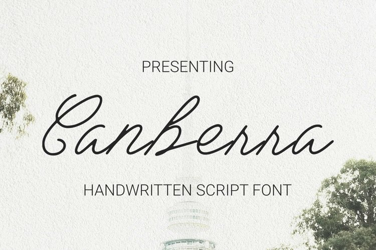 Web Font Canberra example image 1
