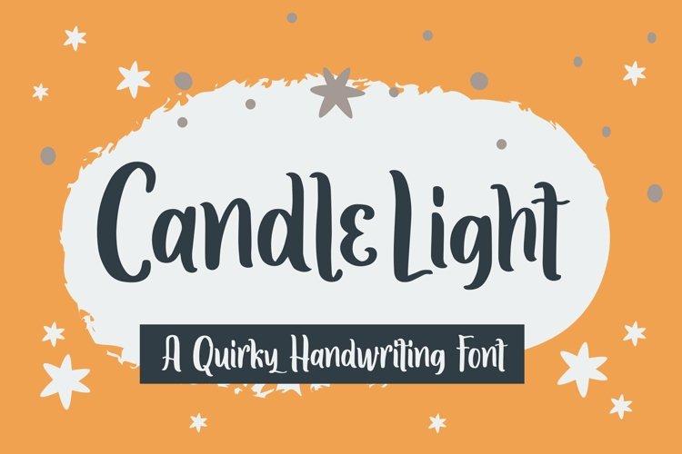 Web Font Candle Light - Handwriting Font example image 1