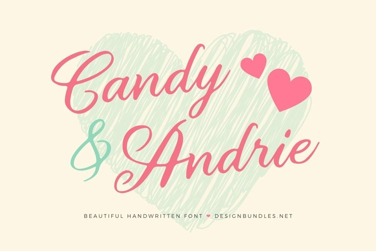 Web Font Candy & Andrie Font example image 1