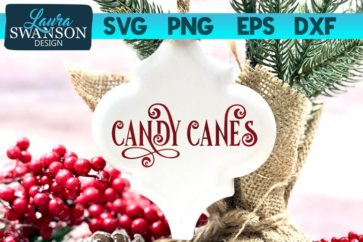 Candy Canes SVG Cut File   Christmas SVG Cut File example image 1