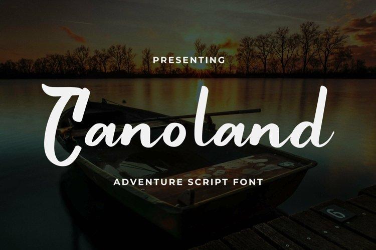Web Font Canoland example image 1