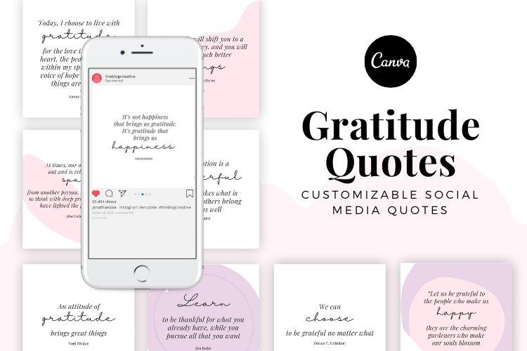 100 Gratitude Canva Quotes