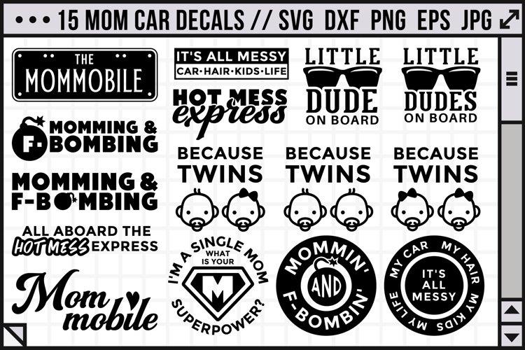 Funny car decals for moms - Mom life SVG | Car decals SVG