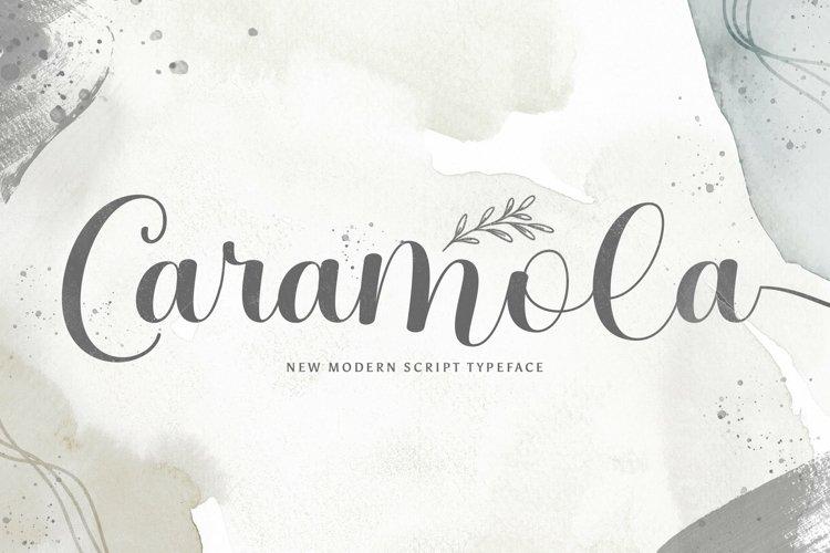 Web Font Caramola example image 1