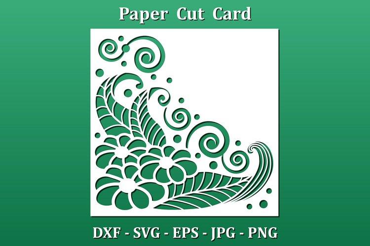 Paper cut Card, cnc cut files. Floral design pattern