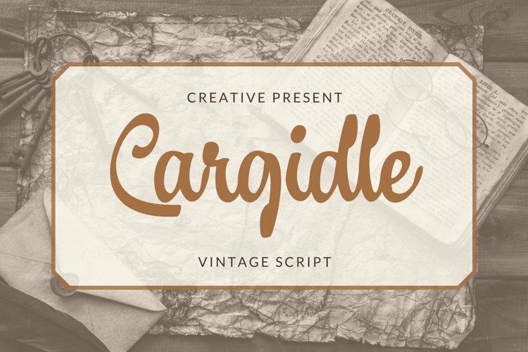 Web Font Cargidle Font example image 1