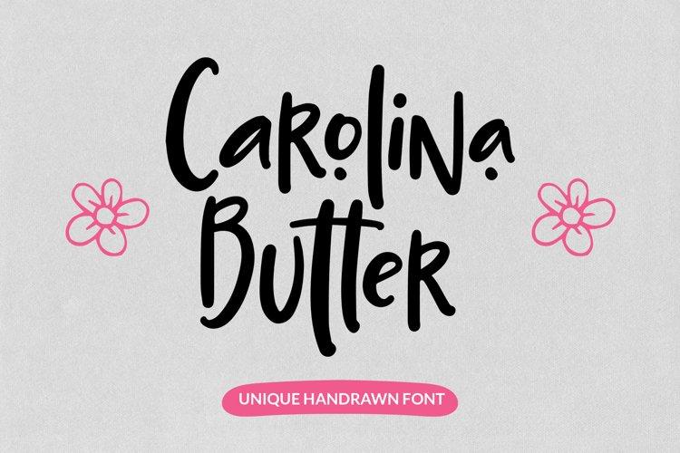 Carolina Butter - Unique Handrawn Font example image 1