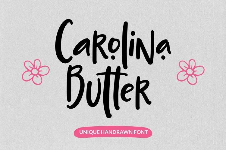 Web Font Carolina Butter - Unique Handrawn Font example image 1