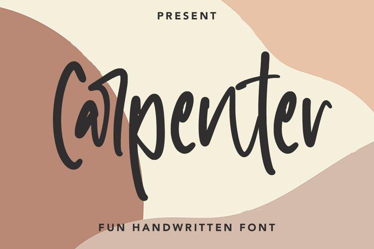 Carpenter - Fun Handwritten Font example image 1
