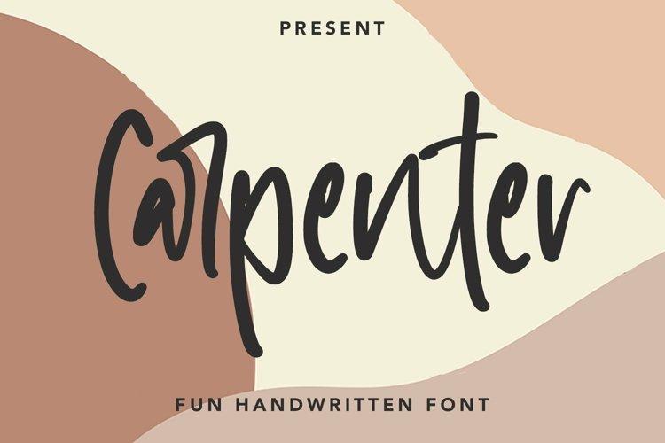 Web Font Carpenter - Fun Handwritten Font example image 1