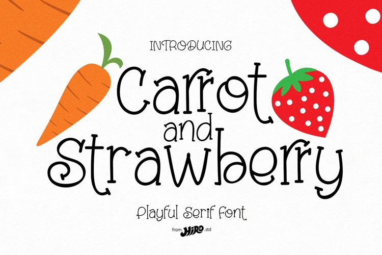 Carrot and Strawberry Font example image 1