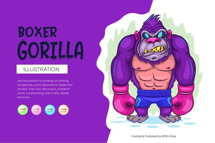 Cartoon Gorilla Boxer. example image 1