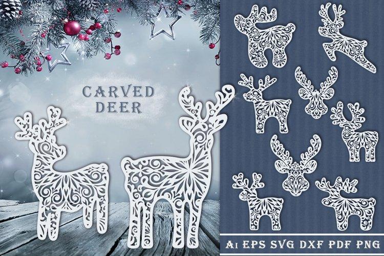 Carved Deer. SVG