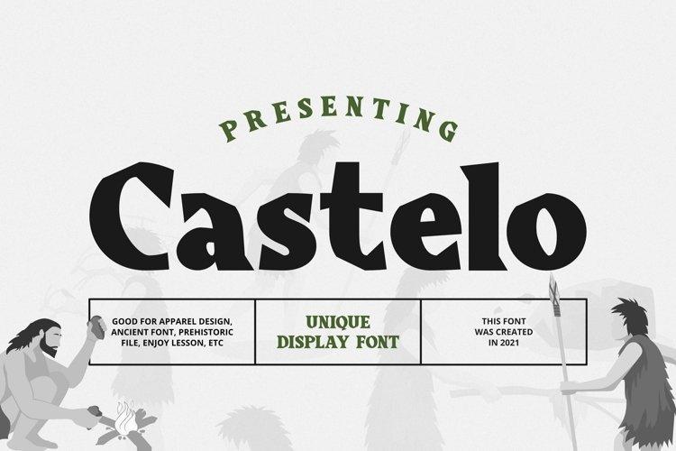 Web Font Castelo example image 1