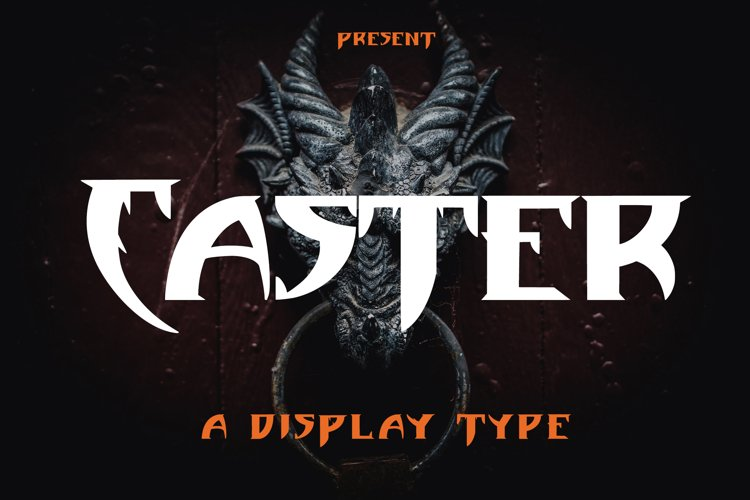 Caster - Display Type Font example image 1