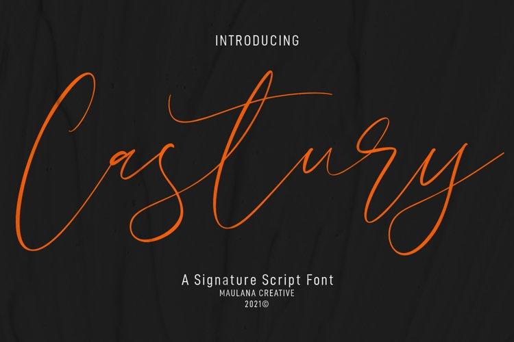 Castury Signature Script Font example image 1