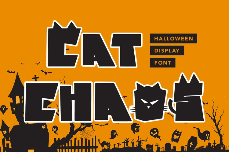 Cat Chaos - Halloween Display Font example image 1