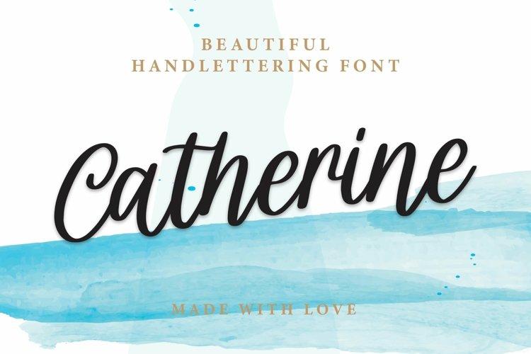 Web Font Catherine - Beautiful Handlettering Font example image 1