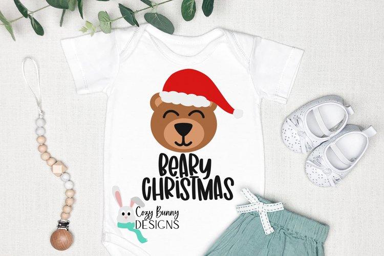 Beary Christmas SVG - Santa Bear example image 1