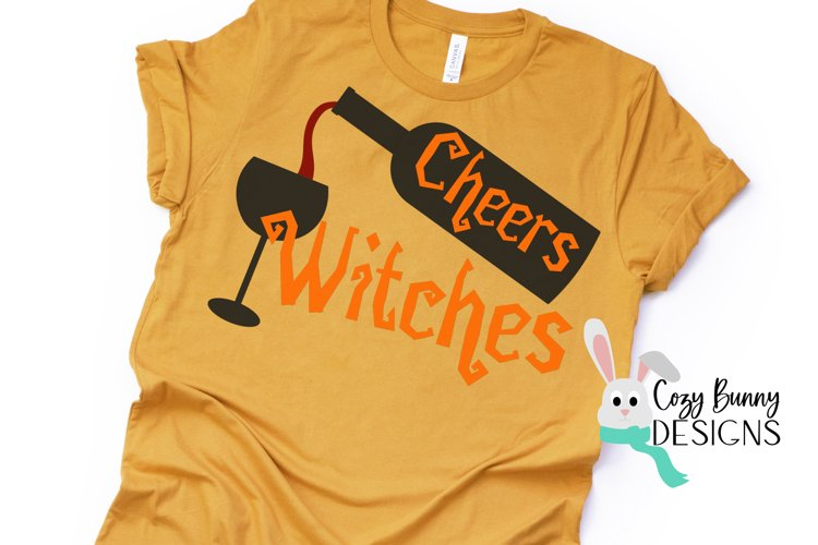Cheers Witches - Halloween SVG example image 1