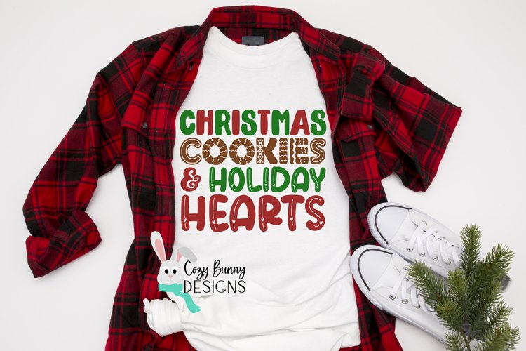 Christmas Cookies and Holiday Hearts SVG - Christmas SVG example image 1