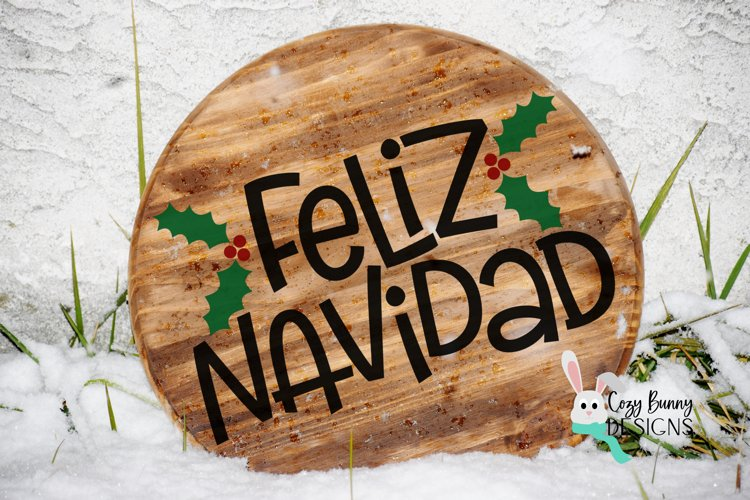 Feliz Navidad SVG - Spanish Christmas SVG example image 1