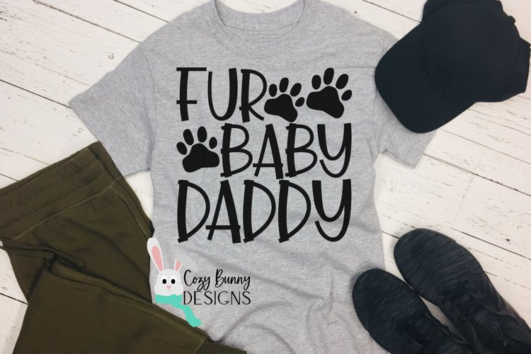 Fur Baby Daddy SVG - Father's Day SVG example image 1