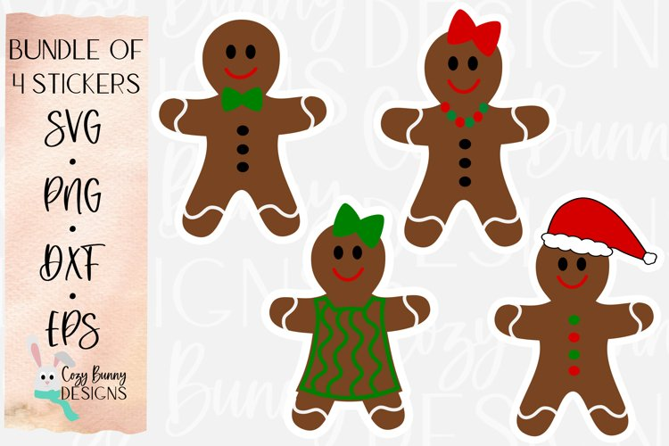 Gingerbread Family Sticker Bundle - Christmas Stickers example image 1