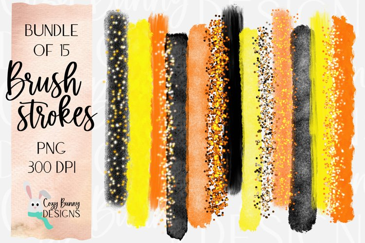Halloween Brush Strokes - Bundle of 15 PNG example image 1