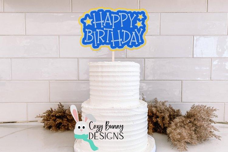 Happy Birthday SVG Cake Topper example image 1