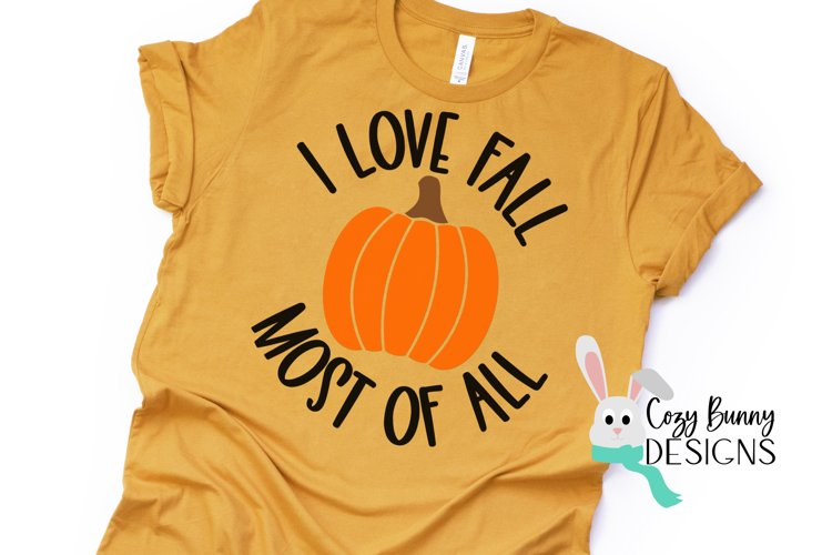 I Love Fall Most of All - Pumpkin SVG - Halloween SVG example image 1